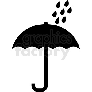 raing on umbrella vector icon