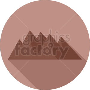 mountain icon on circle background clipart. Royalty-free image # 410939