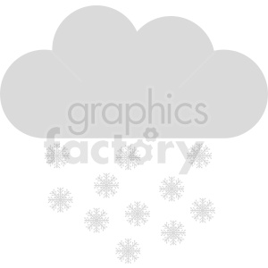 snow cloud vector icon clipart. Commercial use image # 410946