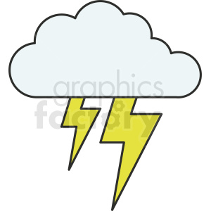 lightning cloud vector clipart icon clipart. Commercial use image # 410977