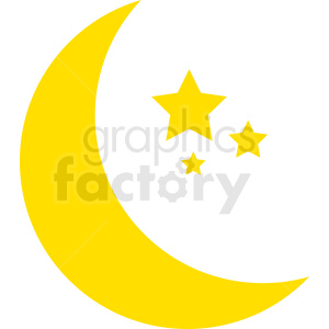 yellow moon vector clipart no background clipart. Royalty-free icon # 410988