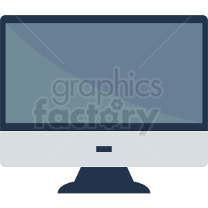 computer monitor vector clipart. Royalty-free image # 410998