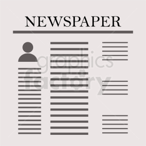 newspaper vector graphic design clipart. Commercial use image # 411028