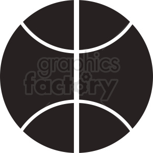 black basketball icon design clipart. Royalty-free image # 411086