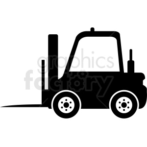 black and white fork lift vector clipart clipart. Royalty-free image # 411102