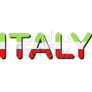 Italy flag design vector clipart clipart. Royalty-free image # 411119
