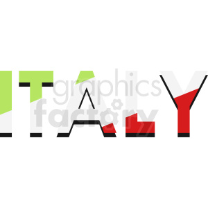 Italy typography vector clipart clipart. Commercial use image # 411121