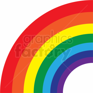 quarter rainbow cut file clipart. Commercial use image # 411167