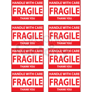 fragile vector decal set clipart. Royalty-free image # 411172
