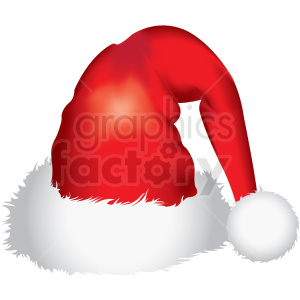santa hat vector clipart clipart. Commercial use image # 411179