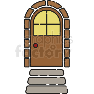 cartoon door vector clipart clipart. Royalty-free image # 411209