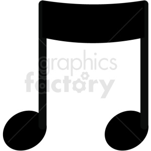 music eighth note vector image clipart. Royalty-free image # 411253
