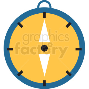 compass flat vector icon clipart. Royalty-free icon # 411266