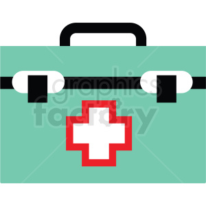 medical bag flat vector icon clipart. Commercial use image # 411278