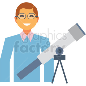 astronomer flat icon vector icon clipart. Royalty-free image # 411294
