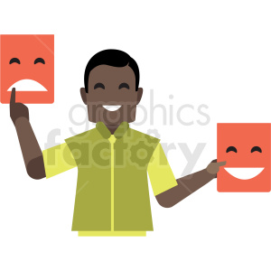black salesman flat icon vector icon clipart. Commercial use image # 411308