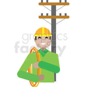 electrician flat icon vector icon clipart. Royalty-free image # 411310