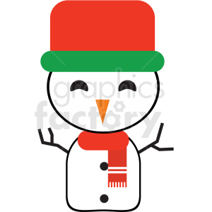christmas snowman avatar vector icon