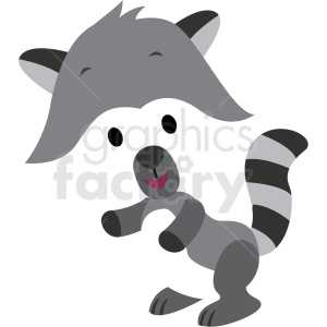 baby cartoon racoon vector clipart clipart. Royalty-free image # 411368