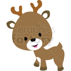 baby cartoon reindeer vector clipart clipart. Royalty-free image # 411374