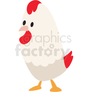cartoon chicken vector clipart clipart. Commercial use image # 411400