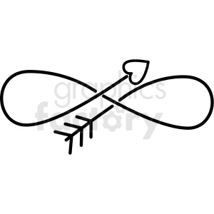 infinity love arrow vector clipart clipart. Commercial use image # 411452