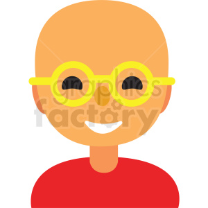 bald guy wearing glasses avatar icon vector clipart clipart. Commercial use image # 411516