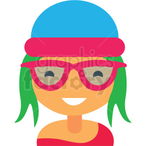 hipster avatar icon vector clipart