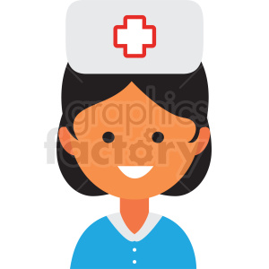 female nurse icon vector clipart clipart. Commercial use image # 411545