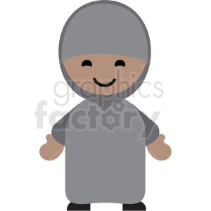 Arabic female character icon vector clipart