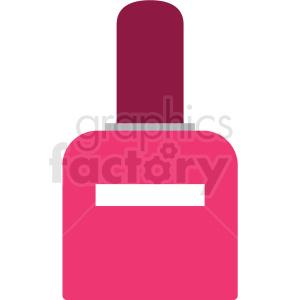 pink nail polish vector clipart clipart. Royalty-free image # 411665