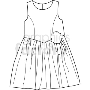black white dress vector clipart clipart. Royalty-free image # 411689