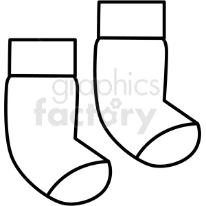 black white socks icon vector clipart clipart. Royalty-free image # 411692