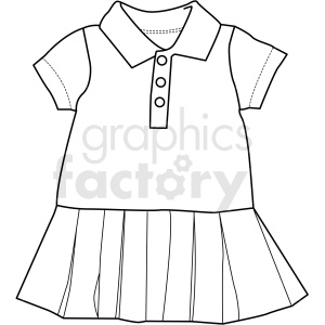 black white small girl dress vector clipart clipart. Commercial use image # 411696