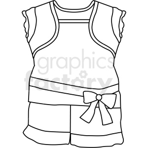 black white child clothing icon vector clipart clipart. Royalty-free image # 411700