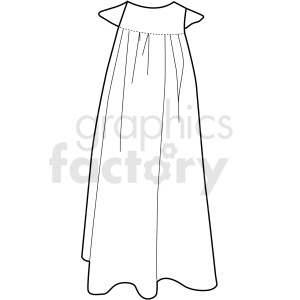 black white girls dress vector clipart clipart. Commercial use image # 411716