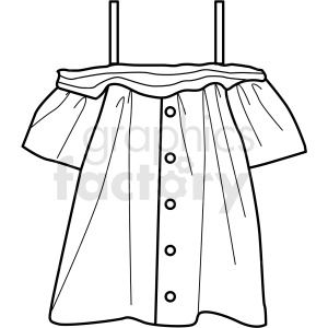black white girl shirt icon vector clipart clipart. Royalty-free image # 411719