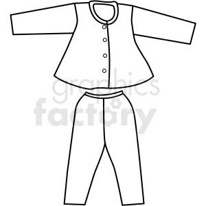 black white outfit icon vector clipart clipart. Royalty-free image # 411725