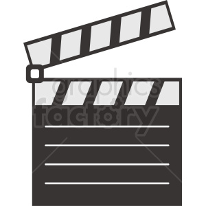 clapperboard cartoon clipart clipart. Royalty-free image # 411840