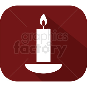 candle on red square icon clipart. Commercial use image # 411846