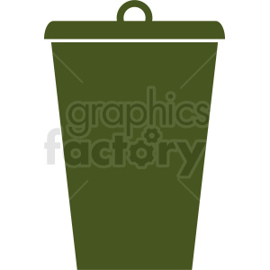 green trash can vector icon clipart. Commercial use image # 411853
