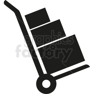 delivery cart vector clipart clipart. Commercial use image # 411893