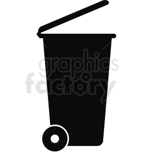 residential trash can icon clipart. Royalty-free image # 411913