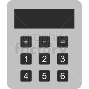 cartoon calculator clipart