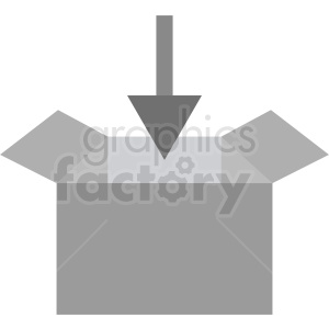 download box icon vector clipart. Royalty-free image # 411933
