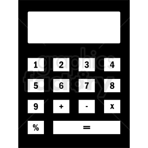 black calculator vector clipart clipart. Royalty-free image # 411952