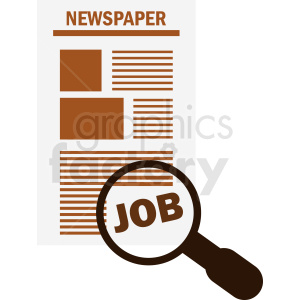 job search icon design clipart. Royalty-free image # 411971