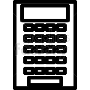 calculator vector outline clipart clipart. Royalty-free image # 411989