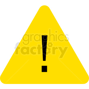 exclamation mark in triangle sign vector clipart clipart. Royalty-free image # 412065