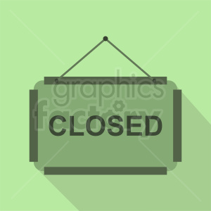 green closed sign clipart clipart. Commercial use image # 412071